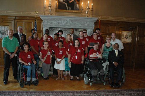 Arkansas YLF at the governor's office